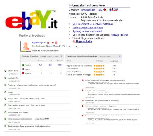 sistema dei feedback positivi/negativi su Ebay_aste on line