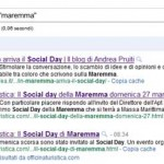Cosa pensa Google del Social Day Maremma???