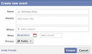 Creare un evento su Facebook