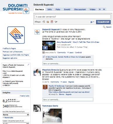 Interazioni utenti pagina Facebook