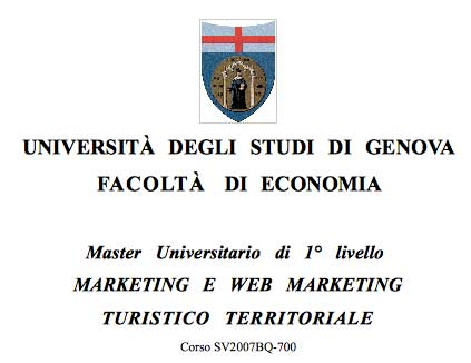 copertina project work Web Marketing turistico - social media