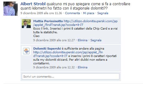 commenti fan su facebook