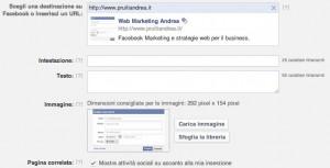 Personalizzare un annuncio su Facebook