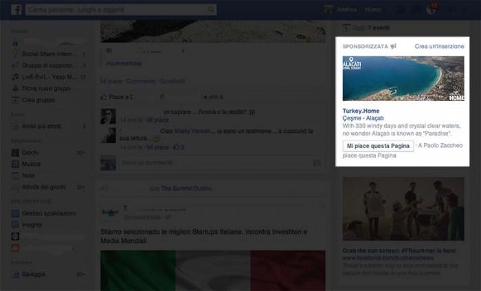 Nuova pubblicità facebook 2014