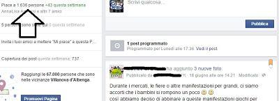 mi piace sulla pagina Facebook