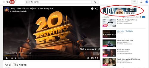 Annuncio in pre-roll e component su youtube