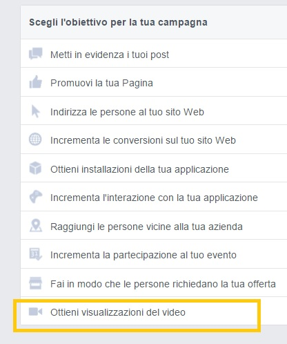 Sponsorizzare un video su facebook